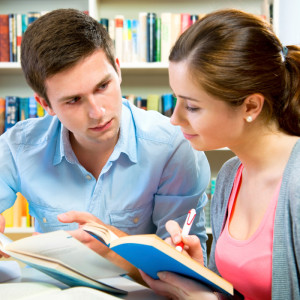 Tutor working with student to study for the SAT or ACT